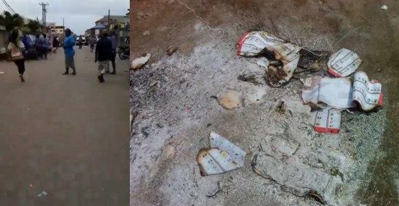#NigeriaDecide2019: Thugs burn votes as people flee In Lagos (Video)