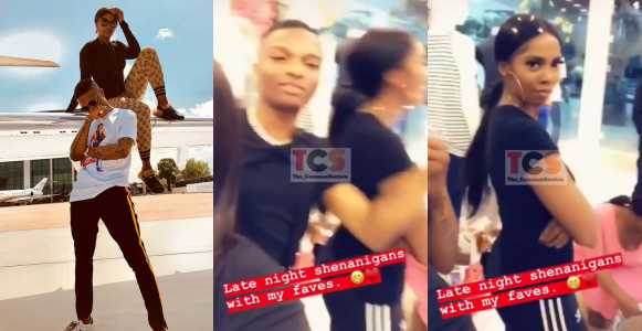 Tiwa Savage and Wizkid have fun as they go on shopping spree (Video)