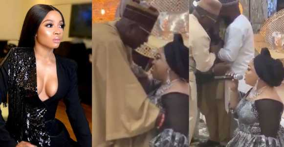 Toke Makinwa reacts to viral video of woman publicly eulogizing her husband
