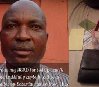 Unemployed man returns missing wallet with Pounds and Nairas notes to the owner in Lagos
