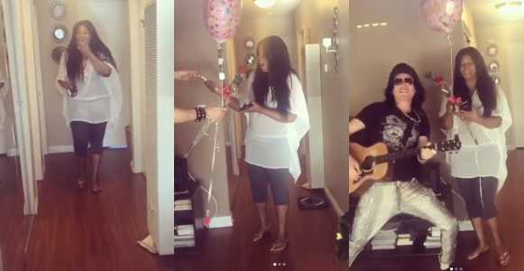 Watch Omotola Jalade-Ekeinde receive surprise birthday gift from hubby