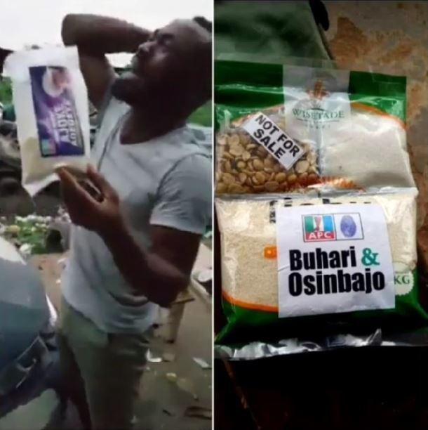 #ViralNow: Nigerian man shed tears after receiving APC 'Next Level' garri (Photos) 1