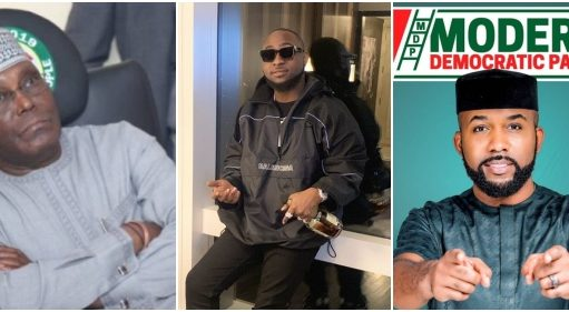 Image result for Fans Blasts Davido Balst After He Dropped PDP And Shows Support For Banky W MDP