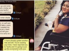 rude female Taxify driver