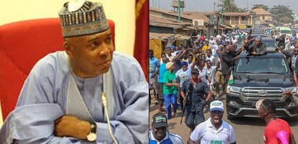 Aide reacts as crowd calls Bukola Saraki thief in Kwara