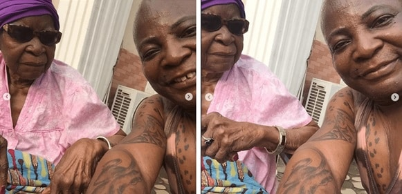 Charly Boy Shares Video And Photos With His 101-Year-Old Mother