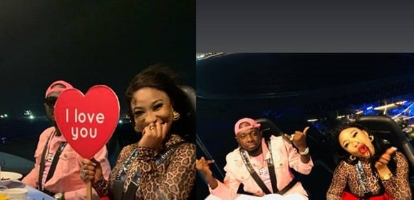 'I Love You' - Tonto Dikeh  Flaunts Lover As She  Goes On A Romantic Dinner With Him