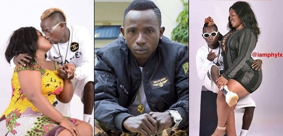 One Corner singer, Patapaa shares photo showing him kissing his girlfriend