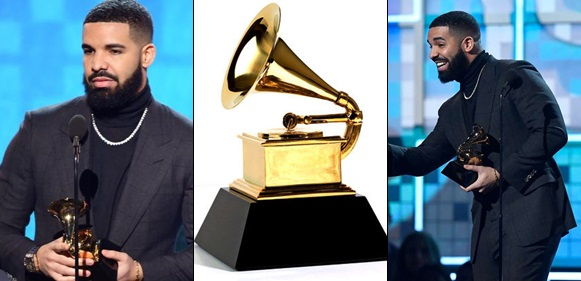 The Grammys Cut Drake's Mic During Acceptance Speech For Shading The Producers