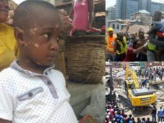 'I'm afraid to go to school again' - Little boy who survived Lagos building collapse