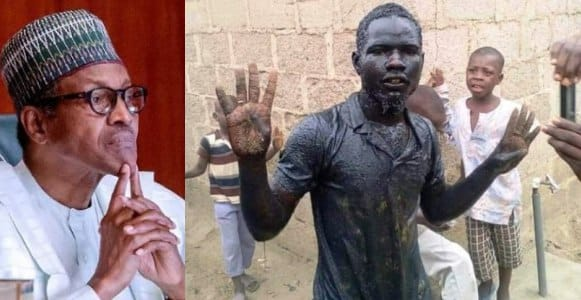 """I am alive""— Bauchi man who drank 'gutter water' to celebrate Buhari's victory"
