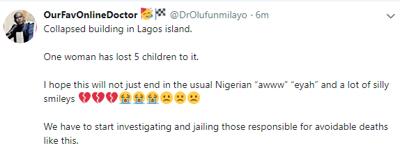 breaking!!! Woman reportedly loses 5 children in Lagos school building collapse 1