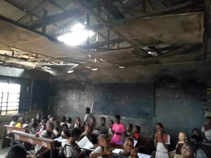 See the deplorable state of the school attended by the girl chased home for not paying school fees ( See Photos) 1