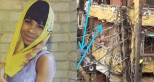 Actress, Queen Oluwa shares disturbing video of a building on the verge of collapsing