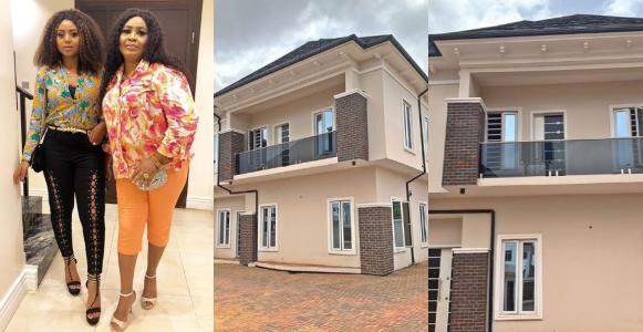 Actress Regina Daniels gifts her mum a house (Photos)
