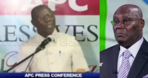 Atiku is destined never to be the president of Nigeria - Oshiomhole (Video)