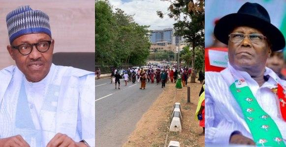 Atiku vs Buhari: Two million women storm Abuja, beg Atiku to concede defeat