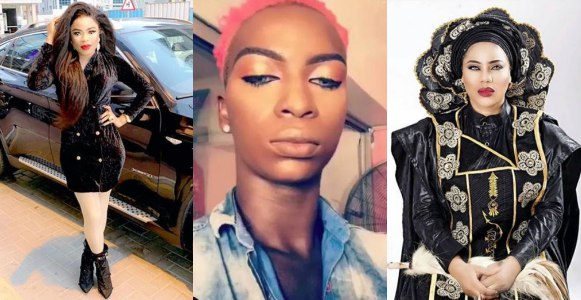Bobrisky rains insult on cross dresser, Jp Blush, who came to Toyin Lawani's defense