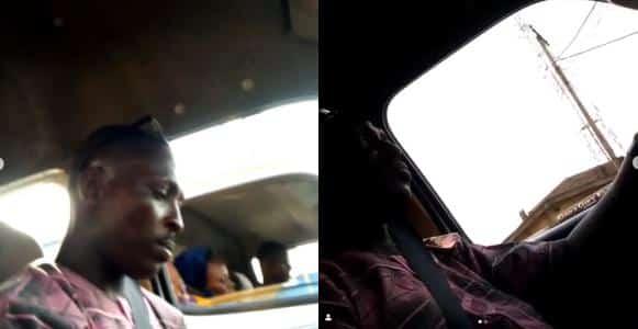 Commercial bus driver caught on camera masturbating in Lagos (Video)
