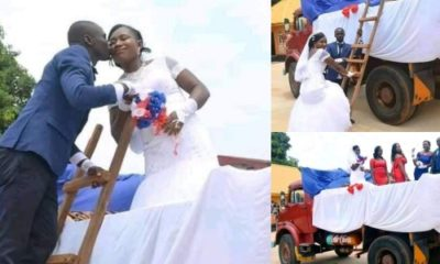 Couple go viral after using a Tipper for their wedding in Akwa Ibom (Photos)