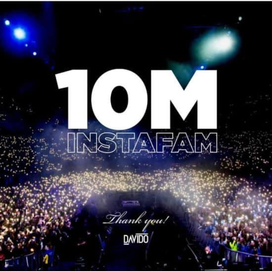 Davido hits 10m followers on Instagram 2