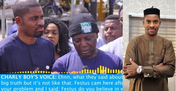 Deji Adeyanju leaks audio of conversation with Charly Boy