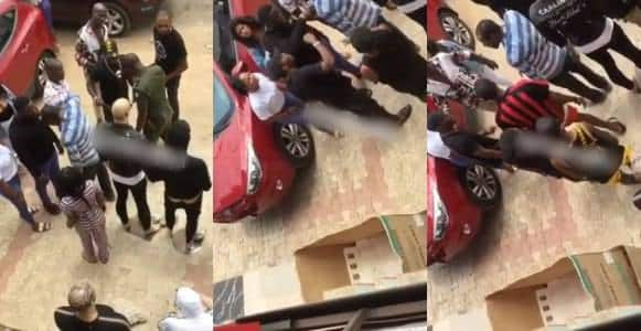 Drama as customers arrest boutique owner for selling fake Slippers (Video)