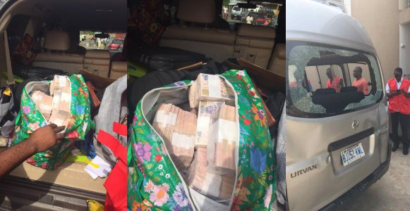 EFCC arrests governorship candidate agent with bags of cash (Video)