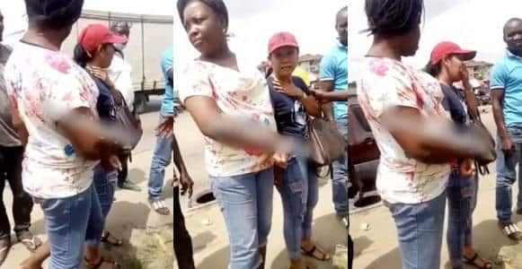 Foreign Lady flee from her matrimonial home over maltreatment in Lagos (Video)