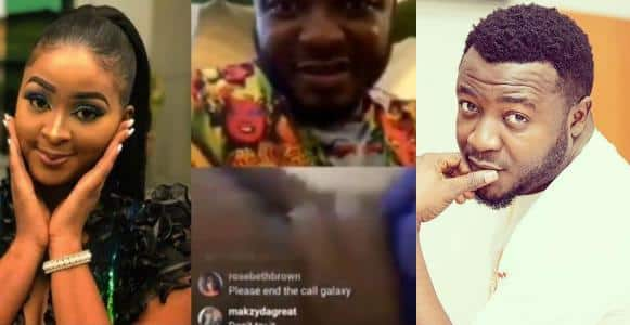 IG Comedian, Etinosa goes completely naked on MC Galaxy's Instagram live video (18+)
