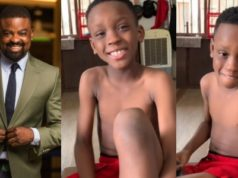 Kunle Afolayan shares hilarious video of his son's reason for wanting to vote Atiku