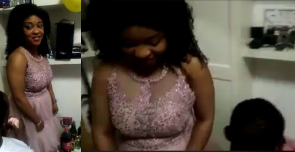 Lady rejects man who proposed to her at her birthday party (Video)