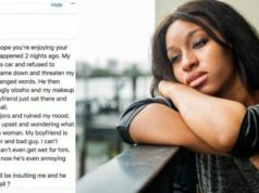 Lady shares her embarrassing moment with boyfriend in public
