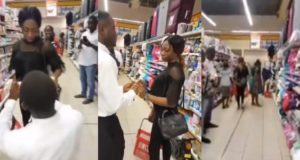 Lady walks out on her boyfriend after he surprised her with a proposal (Video)