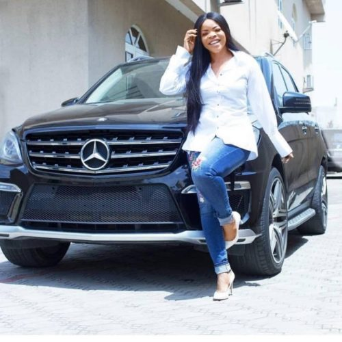 Laura Ikeji Flaunts Her Mercedes Benz, Says She Wants Google To Be Filled With Positive News About Her Achievements