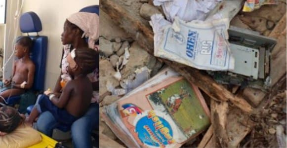 'My son asked me to pray for him before he left' - Father of 6-year-old who died in Lagos school building collapse