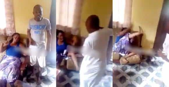 Nigerian lady flogged by her brothers for cheating on her husband (Video)