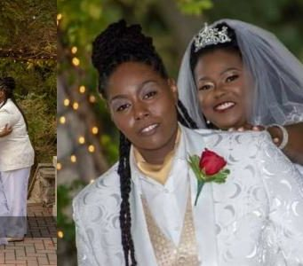Nigerian lady ties the knot with her lesbian Lover (Photos)