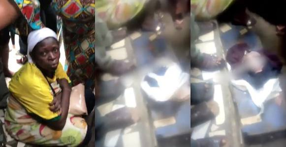 Nigerian lady tries to kill her baby after delivery inside a toilet
