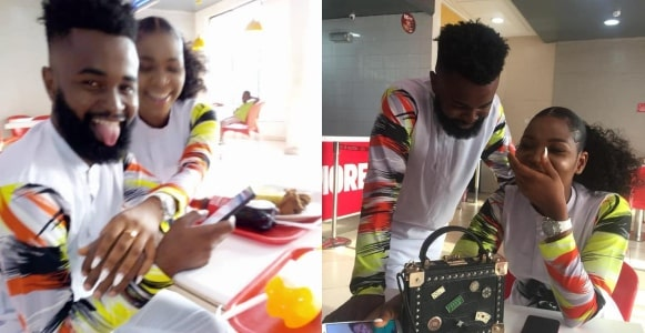 Nigerian man proposes to his girlfriend after 2 months of dating (Video)