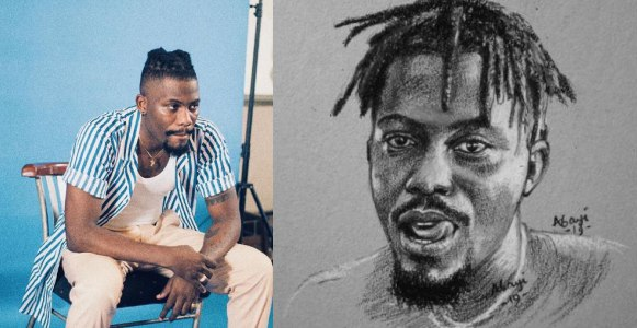 Nigerians call out Y Cee for his savage reply after an artist did a drawing of him