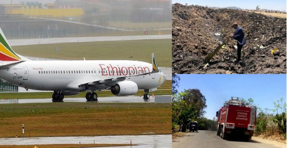 Photos from Ethiopian Airlines plane crash that killed 157 people