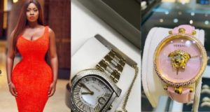 Princess Shyngle shows off two expensive wrist watches her man gave her (Video)