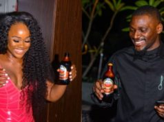 Reality stars, Tobi and Cee-c spotted at a dinner party