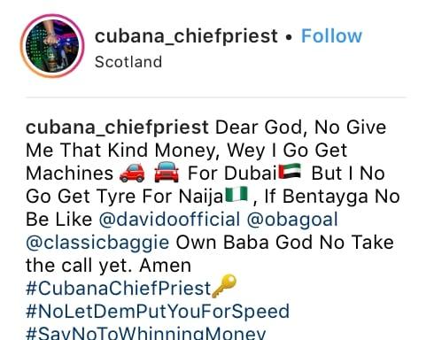 Cubana chief priest, hushpuppi