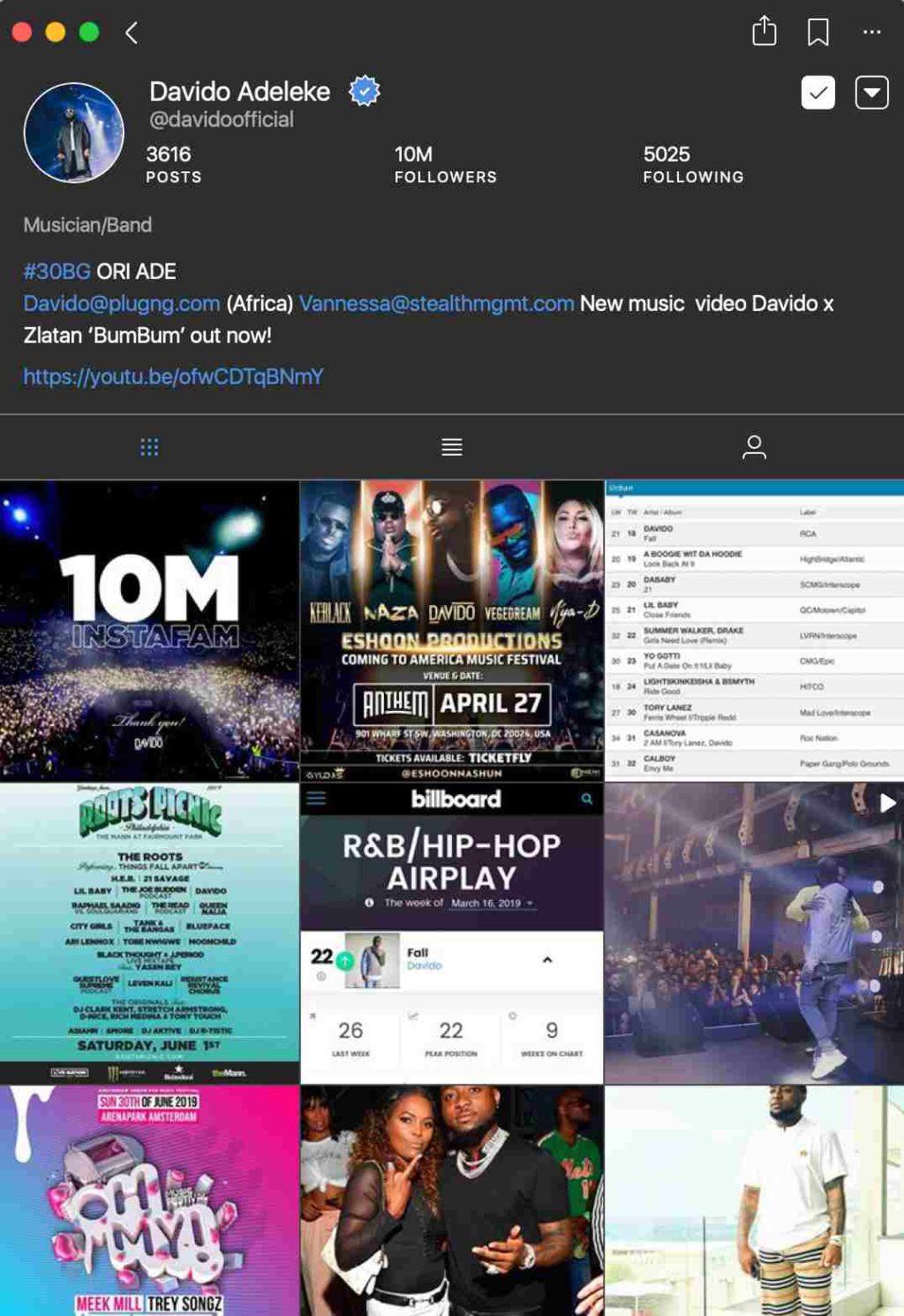 Davido hits 10m followers on Instagram 1