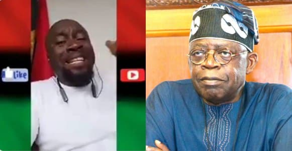 ''This Yoruba idiot it is too much, Lagos is not anybody's property'' – IPOB man blasts, Tinubu (Video)