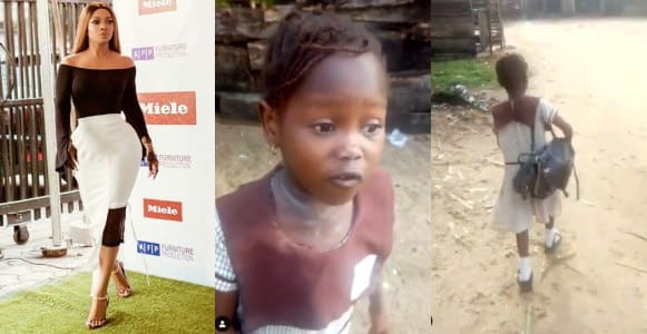 Toke Makinwa reacts to viral video of girl who was chased from school for not paying school fees