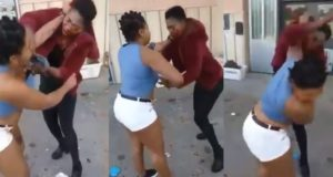 Two Nigerian women fight dirty in Napoli, Italy (Video)