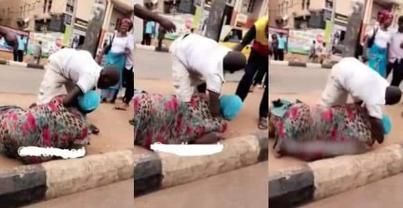 Two beggars fight dirty over money in Enugu (Video)